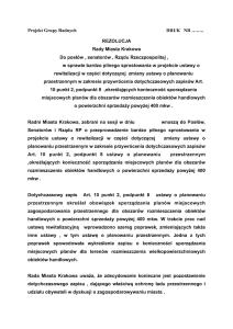 Rezolucja  Rewitalizacja Planowanie Wielkopowierzchniowe 1